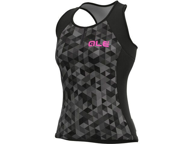 Alé Cycling Solid Triangles Tank Top Women, gris/negro
